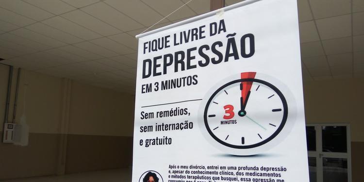 - cura - Igreja oferece cura impossível para depressão em três minutos